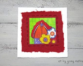 """Small  fine art print """"capelli rossi"""""""