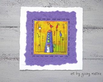 """Small fine art print """"la casetta"""" - little house"""
