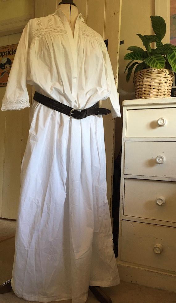 Antique white Victorian nightgown