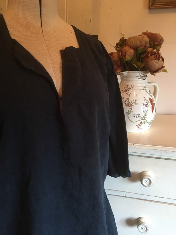 Antique French farmworkers linen tunic.