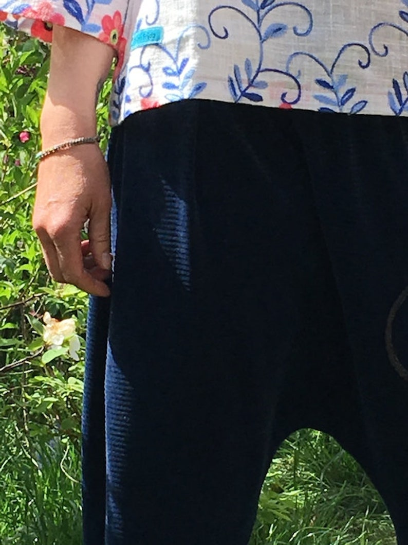 Froeken Frida jersey pants dark blue