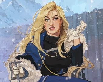 Olivier Mira Armstrong Pin-Up Poster Print
