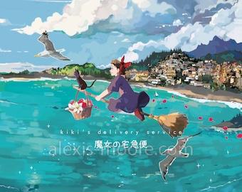 Kiki's Delivery Service Poster Print
