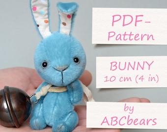 "Miniature Teddy Bunny Pattern (4""/10cm)"