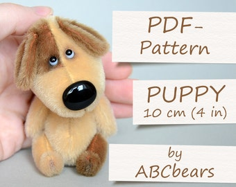 "Miniature Teddy Puppy Pattern (4""/10cm)"