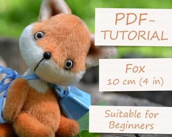 "Miniature Teddy Fox Pattern (4""/10cm)"