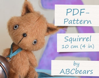 "Miniature Teddy Squirrel Pattern (4""/10cm)"