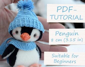 "Miniature Teddy Penguin Pattern (4""/10cm)"