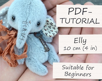 "Miniature Teddy Elephant Pattern (4""/10cm)"