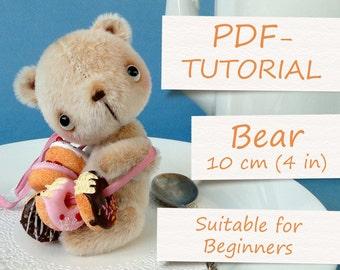 """Miniature Teddy Bear Pattern (4""""/10cm)"""