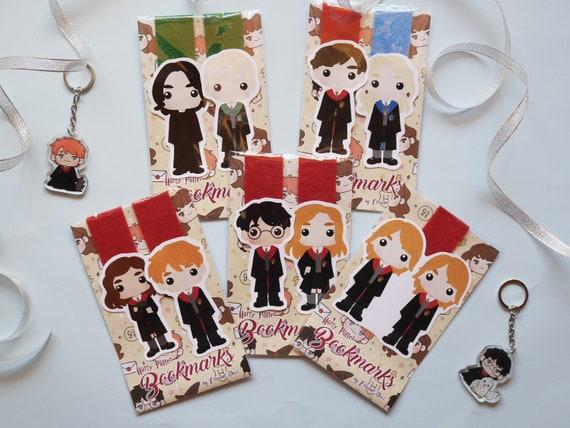 Harry Potter Marcapáginas, book lover, bookish, bookworm gifts, cute bookmark, Hogwarts, marcapáginas kawaii, marcapáginas magnéticos