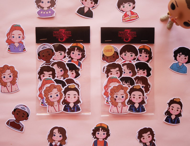 STICKERS Stranger Things pack, stickers set,steve, Stranger Things 3  Stickers, cute stickers, Stranger Things Fan Art Stickers,