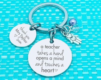 Teacher Gift Idea, Personalized, Personalised Keychain, Gift from Student, Gift For Teacher, Teacher Appreciation, Best Teacher Gift