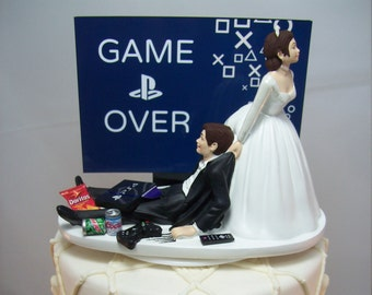 Wedding Cake Topper Funny Etsy