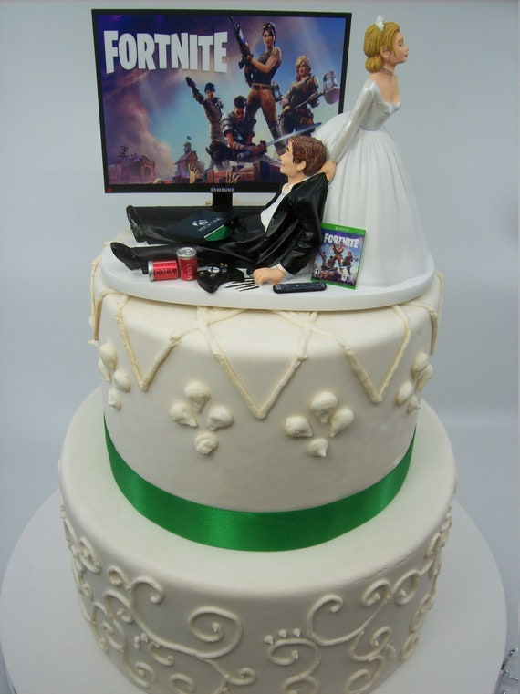 Gamer Funny Wedding Cake Topper Video Game Fort Gaming Junkie Etsy