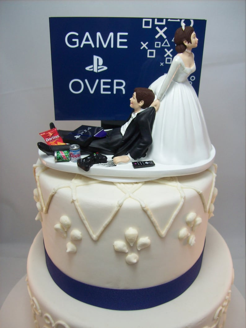 Funny Wedding Cake Toppers Video Games