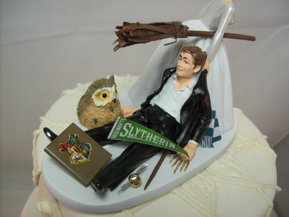Harry Potter Lustige Hochzeitstorte Topper Slytherin Haus Etsy
