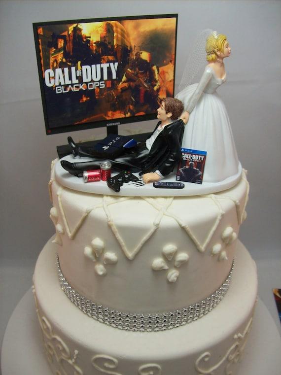 Gamer Lustige Hochzeitstorte Topper Cod Videospiel Etsy