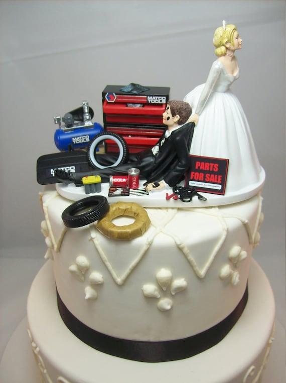 Lustige Hochzeitstorte Topper Fur Mechanik Auto Mechaniker Etsy
