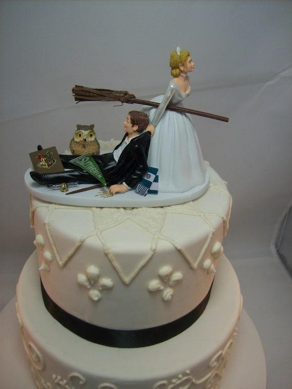Harry Potter Funny Wedding Cake Topper Slytherin House Etsy