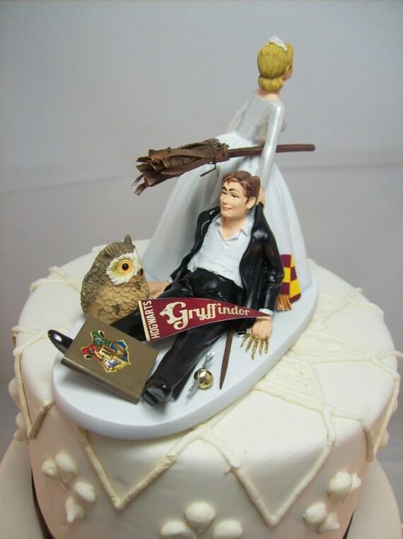 Harry Potter Lustige Hochzeitstorte Topper Gryffindor Haus Etsy