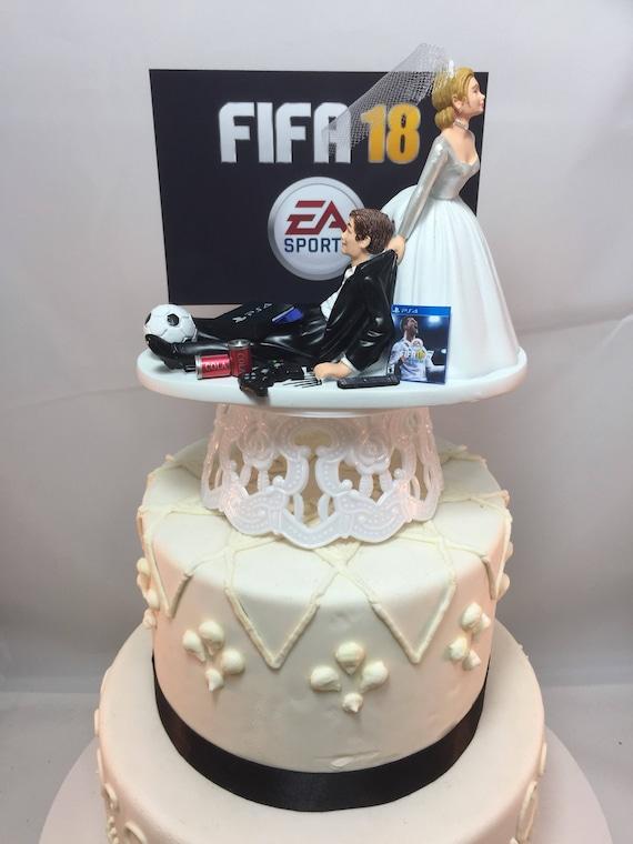 Lustig Hochzeit Kuchen Topper Fifa 18 Personalisierte Gamer Etsy