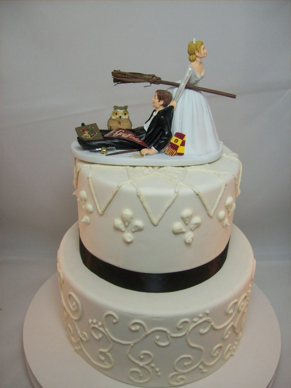 Harry Potter Funny Wedding Cake Topper Gryffindor House Etsy
