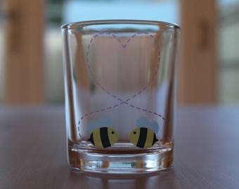 Bee Mine Votive Candle Holder & Tea Light