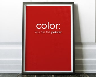 Color CSS Code Print Art For Geeks Web Designers Wall DecorOffice Quote Computer Coding Programming HTML
