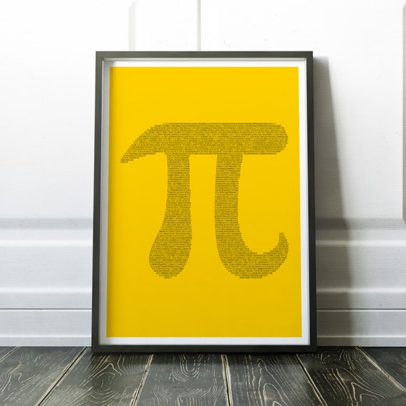 Pi Symbol Print Pi Print Art Poster Pi Digits Inside Of Pi Etsy