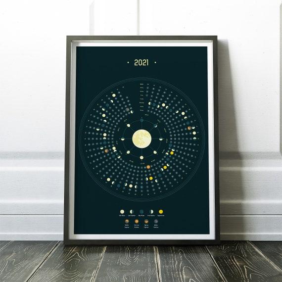 Calendario 2021 Calendario eventi astronomici Calendario | Etsy