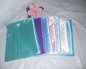 "Standard Size Satin Pillow Case 21""x32"""