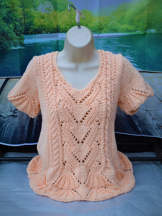 summer, top pattern,knitting pattern,hand made lace pattern, lace top knitting pattern,short sleeve knit pattern,designer sweater pattern