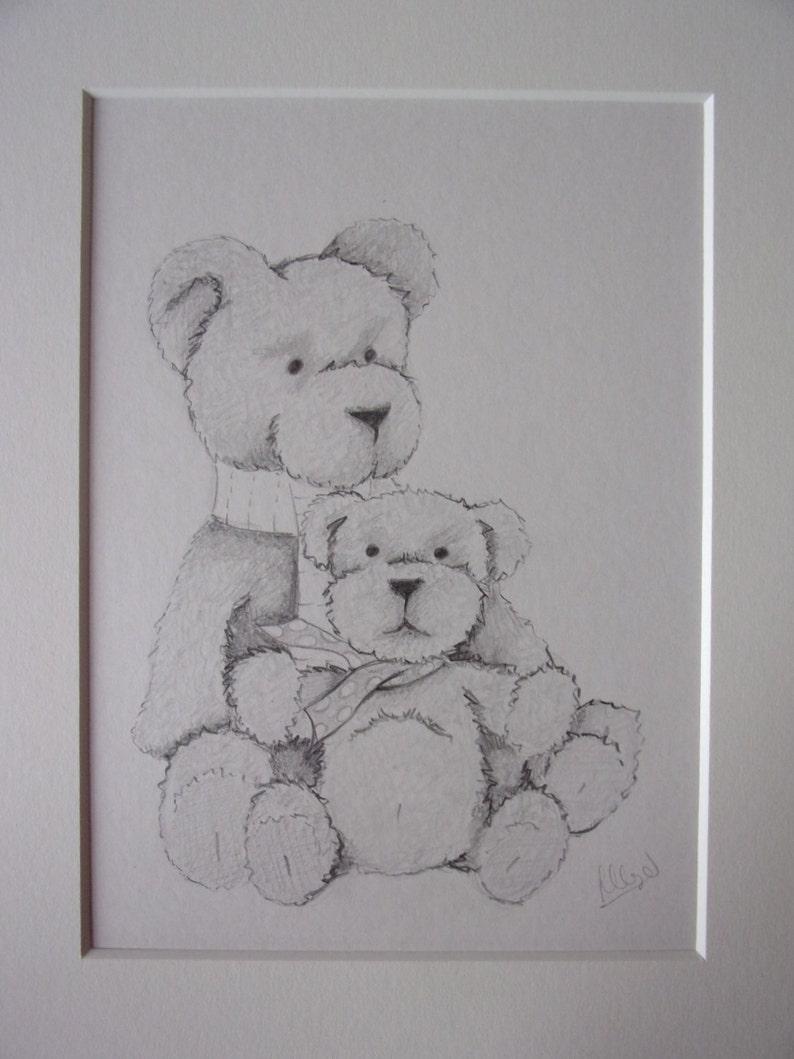 Teddy bears pencil drawing teddy bears drawing pencil sketch 10x8 drawing teddy bears pictures