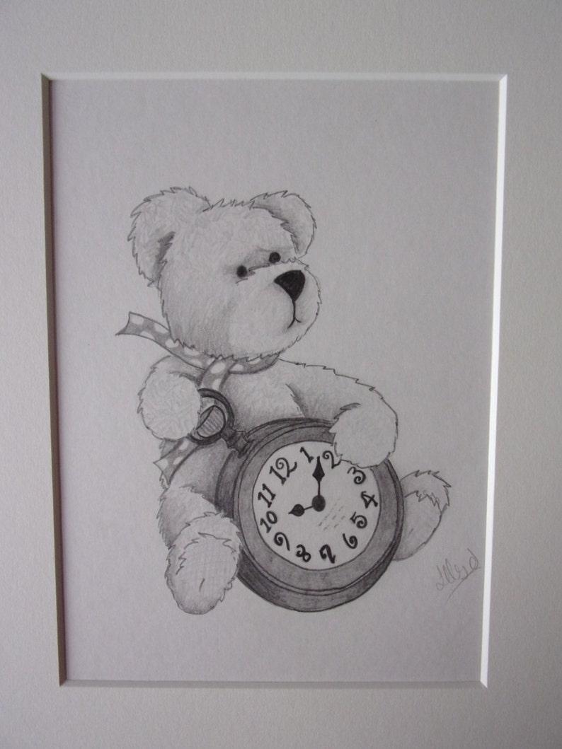 Teddy bear pencil drawing teddy bear drawing pencil sketch 10x8 drawing teddy bear pictures