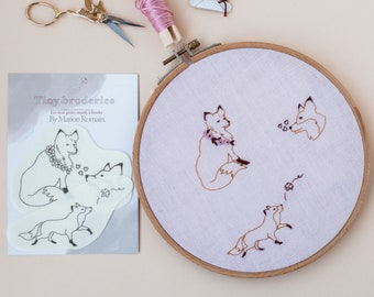 Tiny embroidery - fox embroidery patterns