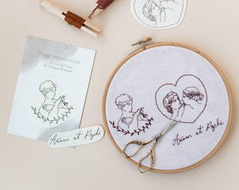 Tiny embroidery - Patterns to embroider - Love and Psyche
