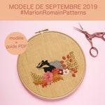 modèle de broderie septembre (+ guide de conseils PDF) - Autumn walk - #MarionRomainPatterns