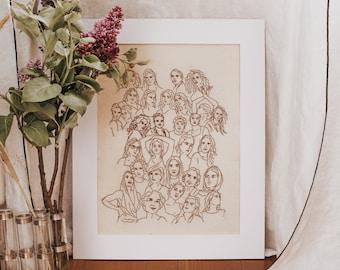 GIANT broderie - Modèle broderie Women - #MarionRomainPatterns
