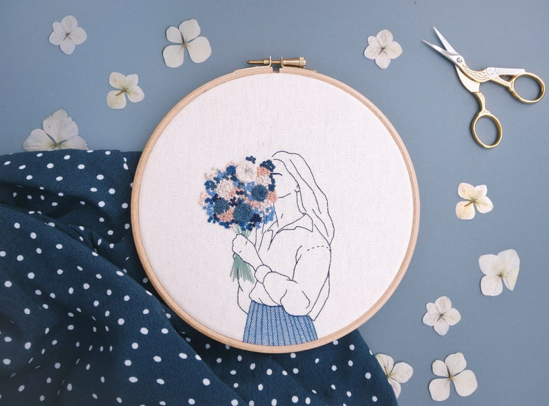 Floral embroidery-Martha image 0