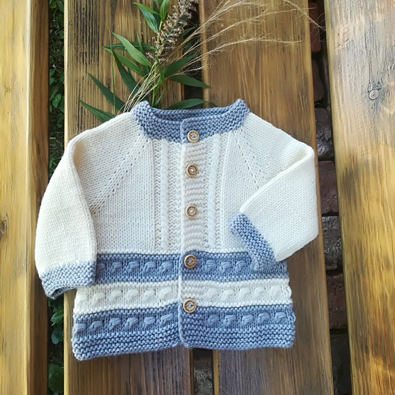 f176be781 Newborn cardigan. Knitted baby shower. Hand Knit Sweater.