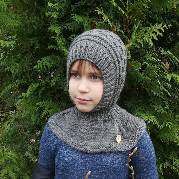 d2e58cfa7eef Cagoule laine. Cagoule enfant en tricot. Tibetian chapeau en   Etsy