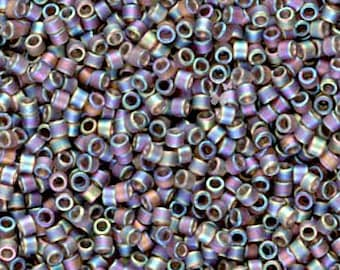 Miyuki Delica Seed Beads, Matte Transparent Brown AB DB0865 (5gr), Size 11/0, DIY Jewelry, Delica Bead Supply