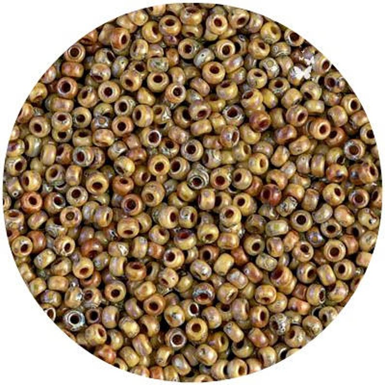 75 g Opaque Frosted Bronze Brown Seed Beads Size 11//0 ~ 2 mm