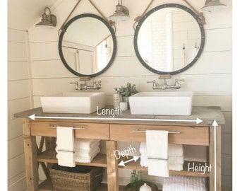 Bathroom Vanity Etsy - 1950's style bathroom vanity