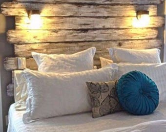 Headboard Rustic Replica Custom Order With Attached Lights Option