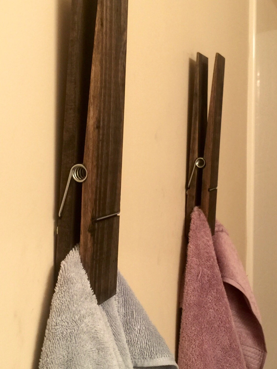 Clothespin Towel Holder-Large 12\
