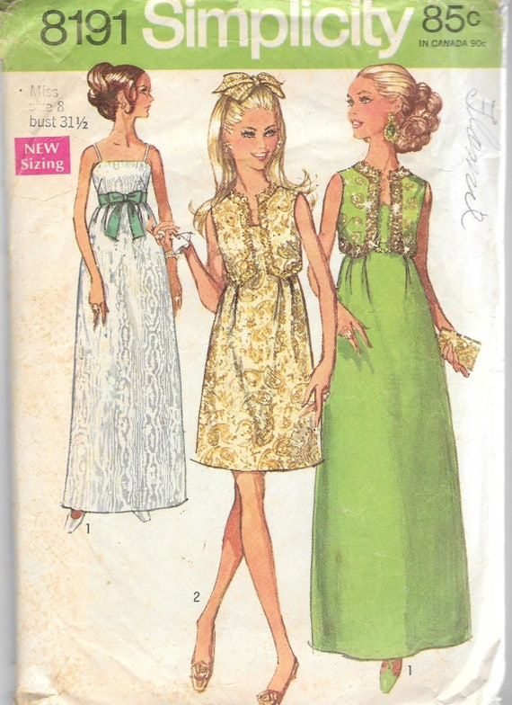 1960s Vintage Sewing Pattern Bolero Maxi Evening Formal Dress | Etsy