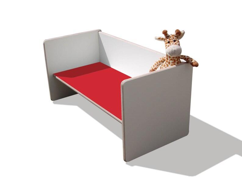 mit roter Sitzfläche weiß unglaublich stabil Kinder Wendehocker