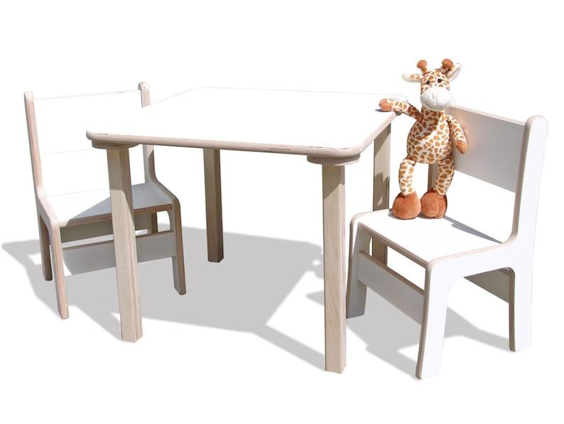 Kindersitzgruppe Kindermöbel Tisch Und 2 Stühle Mit Etsy